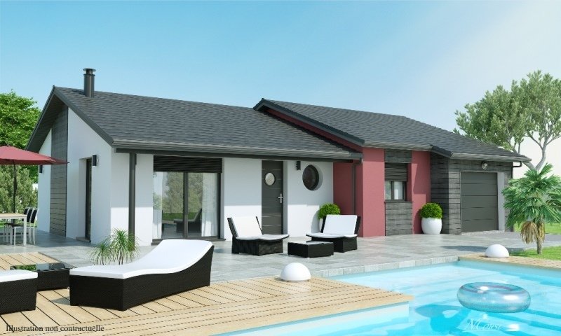 Maison plain pied 3 4 chambres construction maison for Modele maison champetre