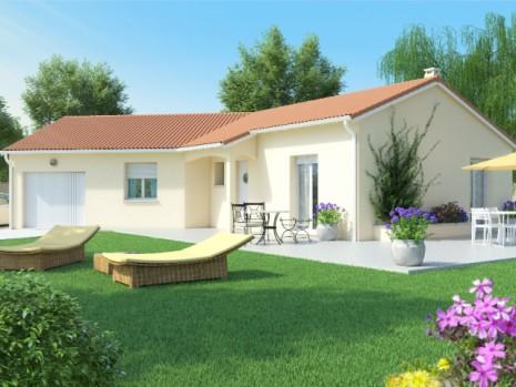 Maison plain pied 3 4 chambres construction maison for Maison emeraude