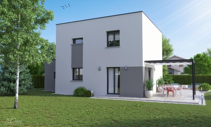 Maison etage 3 4 chambres construction maison for Constructeur maison individuelle 69