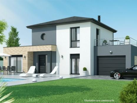 Maison etage 3 4 chambres construction maison design for Modele maison 150 000 euros