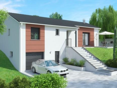 Maison 3 4 chambres avec sous sol construction maison for Agrandissement maison 40m2 au sol
