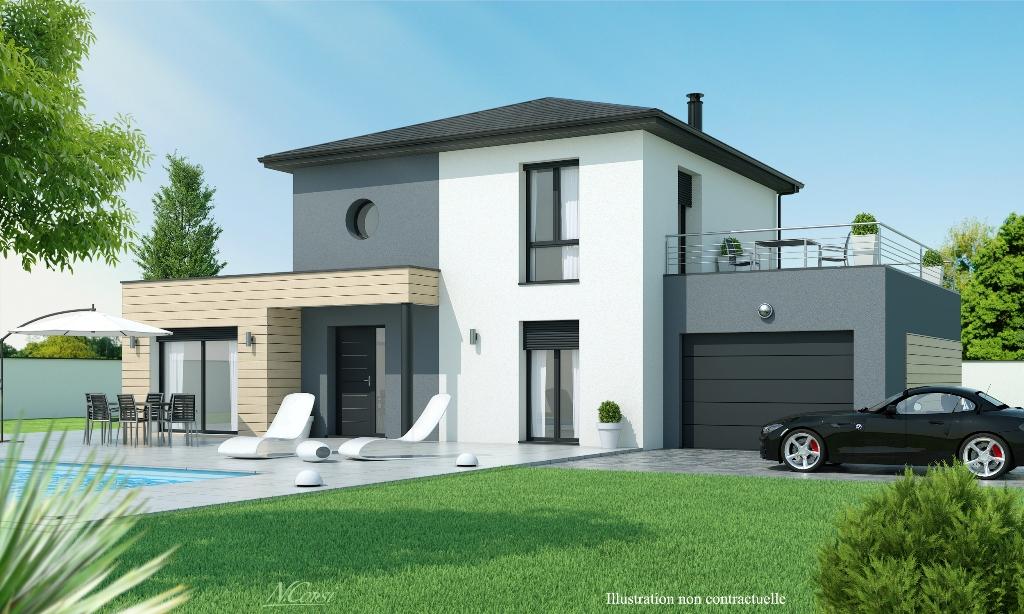 Constructeur de maison individuelle construction de maison individuelle rh ne alpes maisons axial - Maison avec balcon terrasse ...